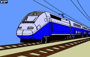 TGV. France. Le train le plus rapide du monde jusqu'en 2015.