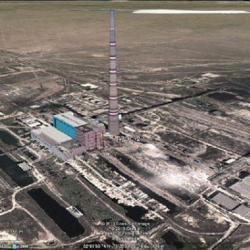 La plus haute cheminée du monde. Kazakhstan