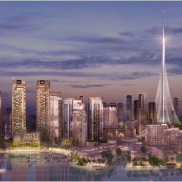 Creek Harbor. Dubaï. Future plus haute tour du monde. 2020