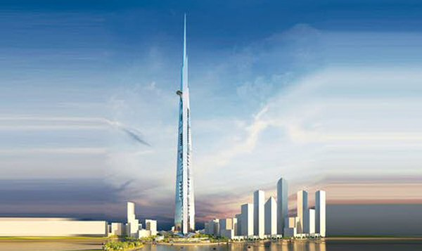 Kingdom Tower. Djeddah.  Future plus haute tour du monde. 2020