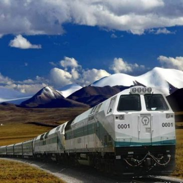 Le train le plus haut du monde au Tibet