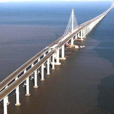 Danyang-Kunshan . Chine. Le plus long pont ferroviaire du monde. 2011