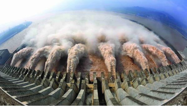 Barrage des Trois Gorges. Chine. Le plus grand du monde. 2009