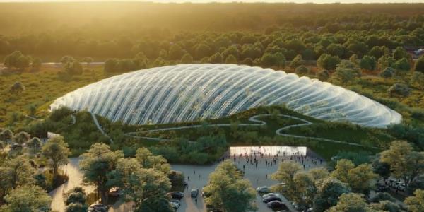 Tropicalia. France. Projet de la plus grande serre du monde. 2021