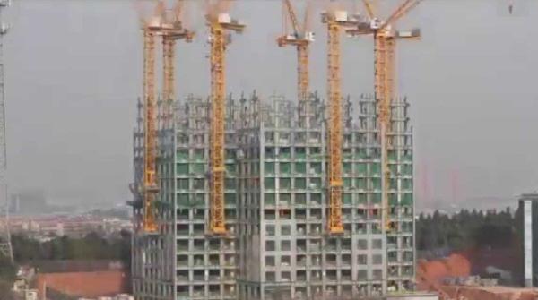 Un gratte ciel construit en 19 jours. Chine. 2015