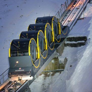 Le funiculaire le plus raide du monde. Suisse