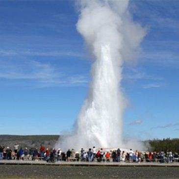 Le Steamboat. Le plus grand geyser actif du monde. USA