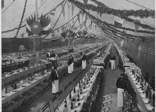 Le plus grand banquet du monde. Paris. 1900