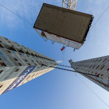 La plus grand nombre d'étages en construction modulaire. Londres. 2020
